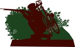 Radfahrer der Armee-WW1 stock abbildung