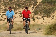 Radfahrer in der Tätigkeit Lizenzfreies Stockfoto