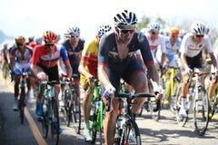 Radfahrer Ian Stannard von Großbritannien-Front reitet während Radfahren-Straßenwettbewerbs Rio-2016 des olympischen Lizenzfreie Stockfotos