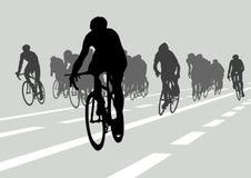 Radfahrer in Konkurrenz lizenzfreie abbildung