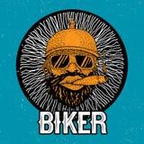 Radfahrer-rundes Rahmen-Plakat Stockbild