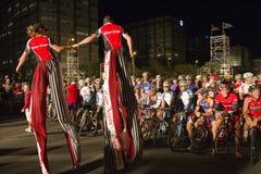 Radfahrer-Umhangargus-Schleife-Rennen 2010 Stockfotografie