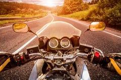 Radfahrerc$erst-personenansicht Stockfotos