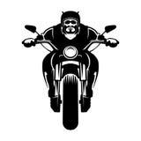 Radfahrerikone Mann auf einem Motorrad Stockfotos