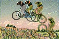 Radfahrerkunst Stockbild