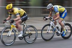 Radfahrerlaufen Stockfoto
