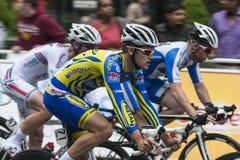 Radfahrerlaufen Lizenzfreie Stockfotografie