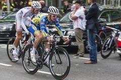 Radfahrerlaufen Lizenzfreies Stockfoto