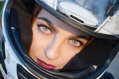 Radfahrermädchen stockfotos