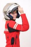 Radfahrermädchen Lizenzfreie Stockfotografie