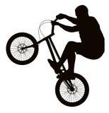 Radfahrerschattenbild Lizenzfreies Stockfoto