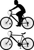 Radfahrerschattenbild  Stockbild