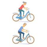 Radfahrerseniorpaare Lizenzfreies Stockfoto