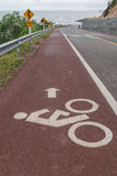 Radfahrersymbolzeichen Lizenzfreie Stockbilder