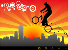 Radfahrervektorabbildung lizenzfreie abbildung