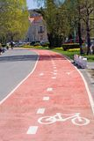 Radfahrerweg Stockfoto
