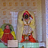 Radha ana Krishna. FEB 8, 2015, DWARKA, INDIA - Deities of Radha and Krishna in a small Hindu temple Stock Images