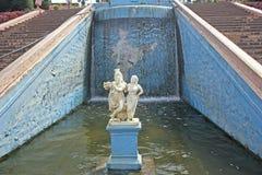 Radha et Krishna dans Krishnarajsagar Photographie stock libre de droits