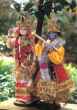 Radha Krishna. Lord Radha and Krishna Hand crafted as Cloth Dolls by Indian artisans Royalty Free Stock Photography