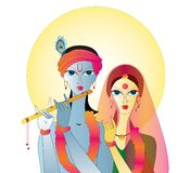 Radha Krishna  Abstract Royalty Free Stock Images