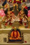 Radha Krishna bóstwa idol Iskcon świątynia, Pune obraz royalty free