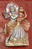 Radha Krishna clay idol. Radha Krishna idol made from clay by village people Stock Photography