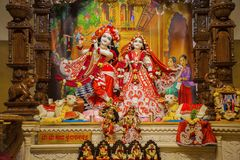 Radha Krishna deity idol. Iskcon temple, Pune. Maharashtra Royalty Free Stock Photos