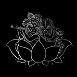 Radha, Krishna. Hindu God. Hindu God. Radha, Krishna Vector hand drawn illustration Stock Images