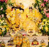Radha Krishna idol. At Iskcon temple Stock Photos