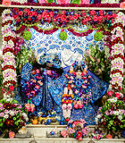 Radha Krishna-Idole am Tempel stockfoto