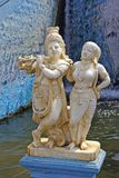 Radha and Krishna in Krishnarajsagar Stock Photo