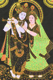 Radha and Krishna. A painted image of Hindu God Krishna and Hindu Goddesses Radha Royalty Free Stock Image