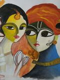 Radha krishna. Painting of radha krishna Royalty Free Stock Images