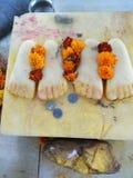 Radha Krishna yugal Feet royalty free stock image