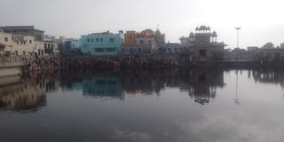 Radha kund in girraj ji parikrama more foreginer coming here and wish too goddess radha maiya stock image