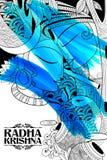 Radha and Lord Krishna on Janmashtami Stock Images