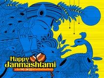 Radha and Lord Krishna on Janmashtami Royalty Free Stock Photo