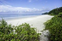 Radhanagar beach. Empty beach at Elephant bay resort, India Stock Images