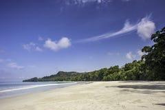 Radhanagar beach. Empty beach at Elephant bay resort, India. One of the most beautiful beach in Asia Royalty Free Stock Photos
