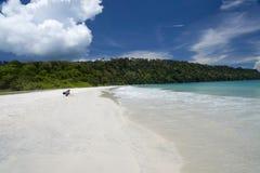 Radhanagar-Strand, Havelock-Insel, Andaman-Inseln lizenzfreie stockfotografie