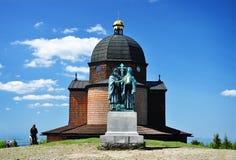 Radhost historische kapel Stock Afbeeldingen
