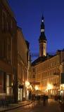 Radhus i den Tallinn staden estonia Arkivfoto