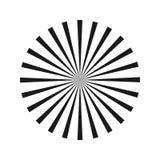 Radiaal Abstract Beeld Vector illustratie Geometrische optische illusie Element voor grafisch Webontwerp Malplaatje voor druk, te Royalty-vrije Stock Foto's