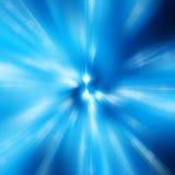 Radiaal blauw onduidelijk beeld van het lichte ontwerp van de bokehvlek Stock Foto