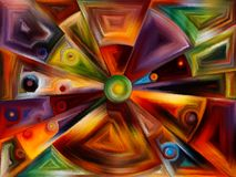 Radiaal gebrandschilderd glasontwerp Stock Fotografie