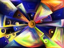 Radiaal gebrandschilderd glasontwerp royalty-vrije illustratie