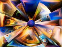 Radiaal gebrandschilderd glasontwerp Stock Foto's