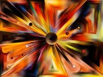 Radiaal gebrandschilderd glasontwerp stock illustratie