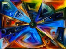 Radiaal gebrandschilderd glasontwerp Stock Afbeelding