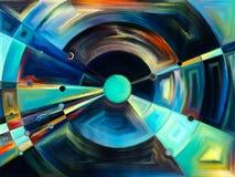 Radiaal gebrandschilderd glasontwerp Royalty-vrije Stock Afbeeldingen